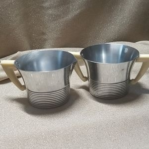 Chase Brass and Copper Company Kitchen - Vintage Chase Aluminum Sugar Creamer Set